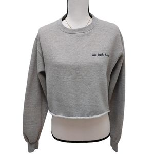 Brandy Melville Uh Huh Honey Crop Sweatshirt